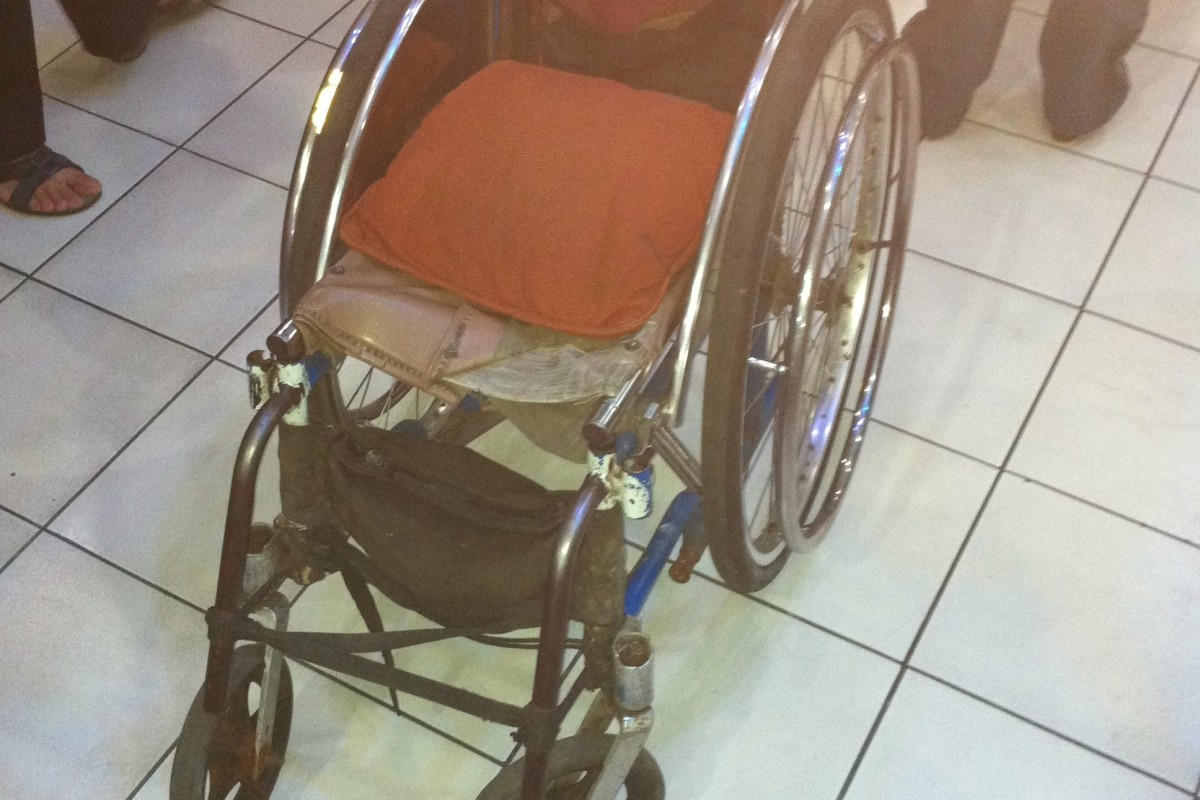 An empty wheel chair